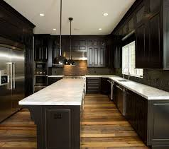 what color wood floors go with espresso cabinets reclaimed wood floors w cabinets kitchen design