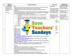 christian celebrations ks1 lesson plan powerpoint and worksheet
