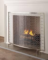 Fireplace Chain Screens - fireplace screens fireplace mantels u0026 fireplace accessories horchow