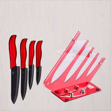 sharp ceramic knife 4 piece knife one peeler knife holder high
