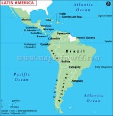 Map Of Latin America With Capitals by Why Invest In Latin America