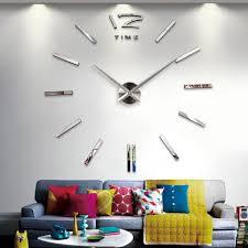 home decor large mirror sticker wall clock modern design 3d diy