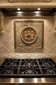 kitchen backsplash metal medallions 33 best traditional backsplashes images on kitchen