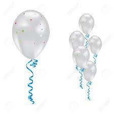 balloon ribbon white balloons with and ribbons royalty free cliparts