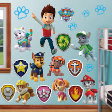 paw patrol wall stickers kids decor removable decal decals art paw patrol wall stickers kids decor removable decal decals art sticker home huge chase ryder dog