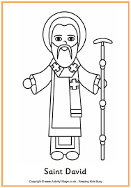 saint coloring page st david u0027s day colouring pages