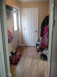 How To Lay Laminate Flooring In A Hallway Organizing A Mudroom In A Small Space The Mom Of The Year