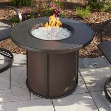 outdoor gas fire pit table the outdoor greatroom company stonefire gas fire pit table reviews