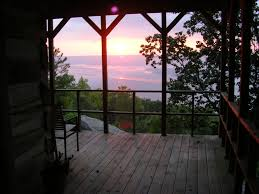cabin porch paradise vista cabin