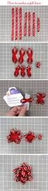 learn how to make a christmas gift bow and treat packaging with