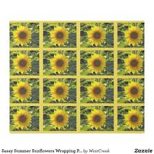 sunflower wrapping paper sassy summer sunflowers wrapping paper online shopping center