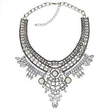 silver fashion statement necklace images High fashion silver statement necklace house of cocohouse of coco png