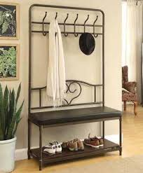 Metal Hall Tree Bench Hall Trees Coat Racks Shoe Racks