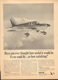 1968 print advertisement ad piper cherokee d luxury airplane