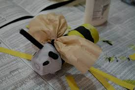 paper tube wasp and wasp mobile off the shelf