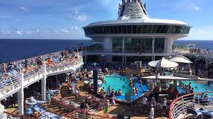 afternoon on the pool deck onboard the royal caribbean cruise ship
