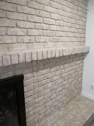 tutorial how to paint a brick fireplace