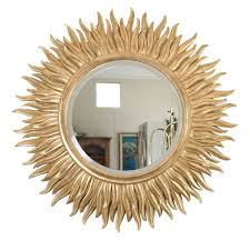 wood sunburst mirror home design