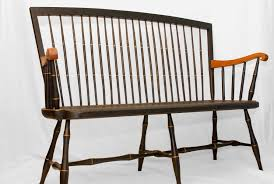 custom windsor settee bench by terry kelly furniture