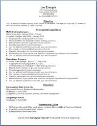 Free Easy Resume Template Free Exle Of Resume Sle Resumes Format Free Sle Of