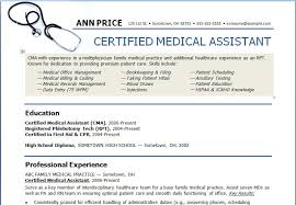 Resume Templates Examples Free by Medical Assistant Resume Templates Berathen Com