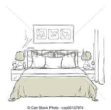 intérieur moderne dessin chambre à coucher moderne