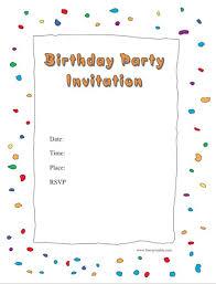 birthday invites template free birthday party invitation templates
