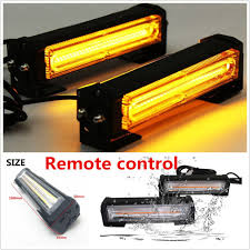 cob led light bar cob led amber strobe traffic emergency light bar warning l remote