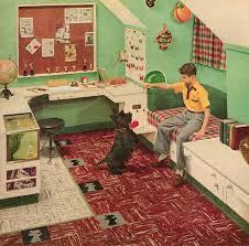 Retro 60s Bedroom Ideas Custom Built Mid Century Bedroom For A Child 1955 Http Www