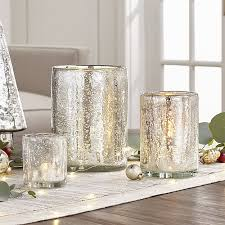 silver hurricane candle holders crate and barrel