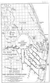 Map State Of Florida by Historic Canal Maps Jacqui Thurlow Lippisch