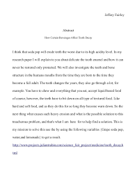 science fair report template science fair abstract tooth decay