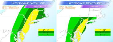 Rainfall Totals Map Nyc Area Weather Hurricane Irene Summary