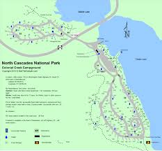 National Harbor Map Cascades National Park Colonial Creek Campground Map