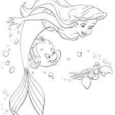 Coloriages Ariel Coloriage Arielle Sirene  kheckinfo