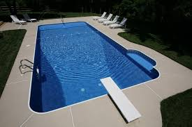 Brushed Concrete Patio Swimming Pool Grey Brushed Concrete Pool Deck With Diving Board