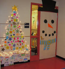 here is our classroom door and area decorated for the