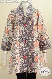 Baju Batik Batik blus batik batik motif bunga desain mewah dengan daleman furing