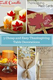thanksgiving place cards ideas 5 cheap and easy thanksgiving table decorations png