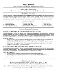 Accounting Resume Sample Accounts Payable Resume Keywords Free Resume Example And Writing