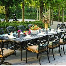 Cast Aluminum Patio Table And Chairs by Darlee Santa Monica 10 Person Cast Aluminum Patio Dining Set