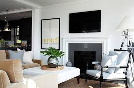Black And White Chair And Ottoman Design Ideas Living Room Wonderful Black And White Living Room Decorating