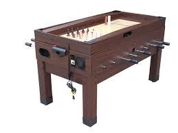 Air Hockey Coffee Table 13 In 1 Combination Table In Espresso The Danbury Foosball