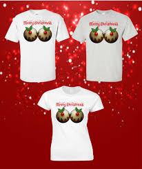 christmas pudding t shirt funny novelty womans mens t shirts