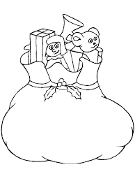 coloring pictures of christmas presents present coloring pages