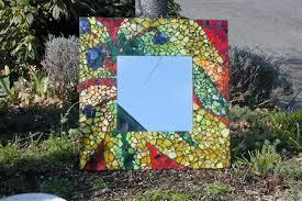 mosaic garden mirror kit for auction art project and kids garden