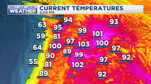 Oregon Temperature Map by 101 In Portland U2026but Cooling Breezes Close By Fox 12 Weather Blog