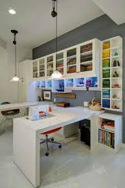 Custom Built Desks Home Office by Beautiful Home Office And Den With Built In Corner L Shaped Desk
