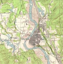 United States Topographical Map by 1up Travel Maps Of Washington Castle Rock Topographic Map