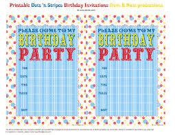 Invitation Card Birthday Printable Birthday Party Invitations Dhavalthakur Com